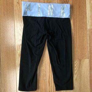 PINK Foldover Cropped Leggings